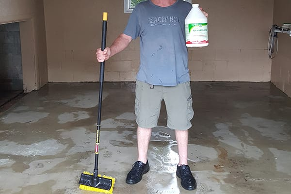 concrete floor prep acid wash