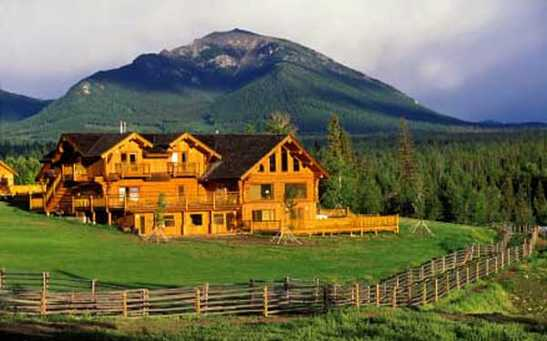 Natural Log home finish